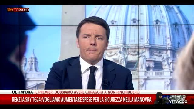 Renzi: su spese sicurezza buon senso da opposizione