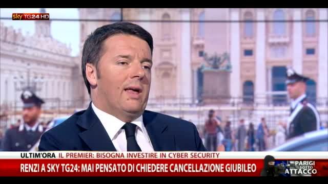 Renzi a Sky TG24: più che controlli serve intelligence