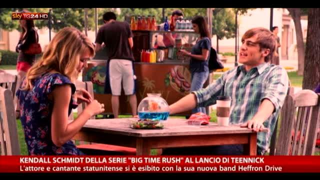 """Kendhall Schmidt di """"Big Time Rush"""" al lancio di Teenick"""