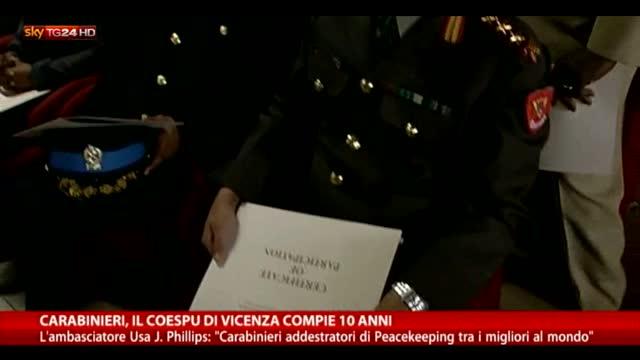 Carabinieri, il Coespu di Vicenza compie 10 anni