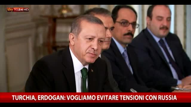 Turchia, Erdogan: vogliamo evitare tensioni con la Russia