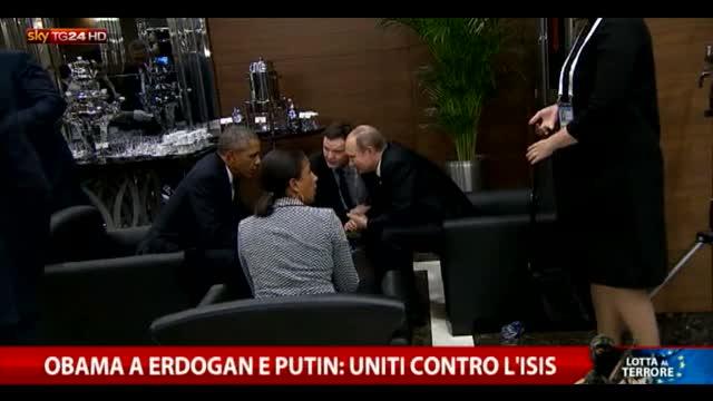 Obama a Erdogan e Putin: uniti contro l'Isis
