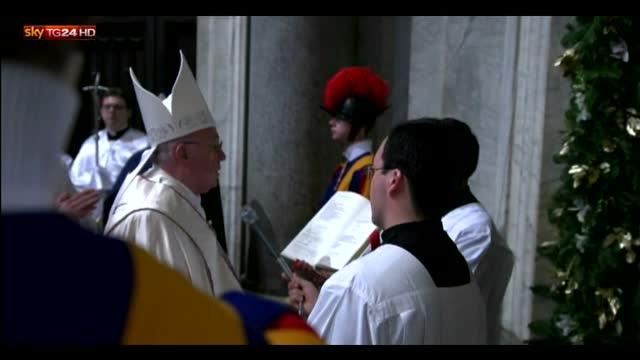 Giubileo, Papa apre Porta Santa basilica S. Maria Maggiore