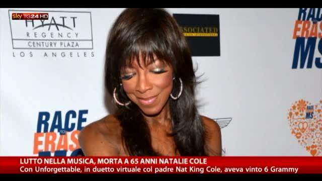 Lutto nella musica, morta a 65 anni Natalie Cole