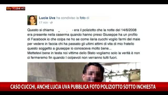 Cucchi, anche Lucia Uva pubblica foto agente sotto inchiesta