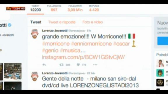 Oscar a Morricone, tantissime le congratulazioni sul web