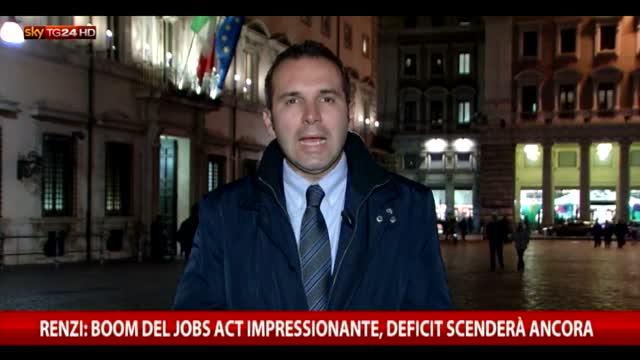 Renzi: boom del Jobs Act impressionante