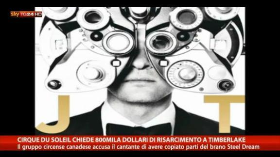 Cirque du Soleil chiede 800mila dollari a Timberlake