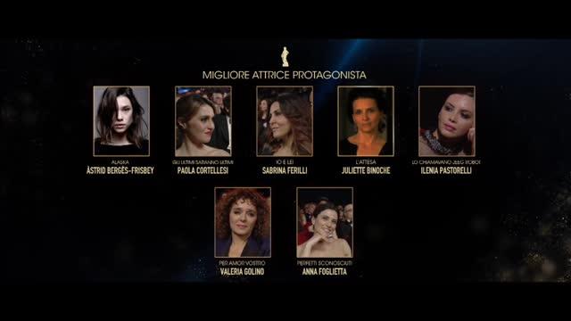 David di Donatello 2016, Miglior attrice