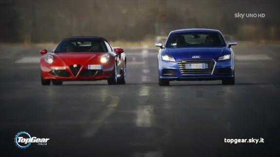 Top Gear Italia - Puntata #5: Alfa 4C Spider vs Audi TTS