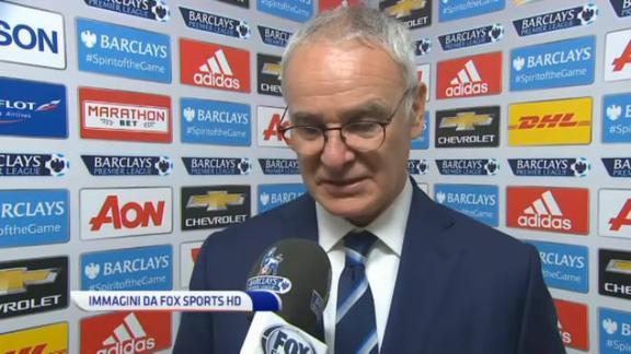 """Ranieri dopo il pari con lo United: """"Prova di carattere"""""""