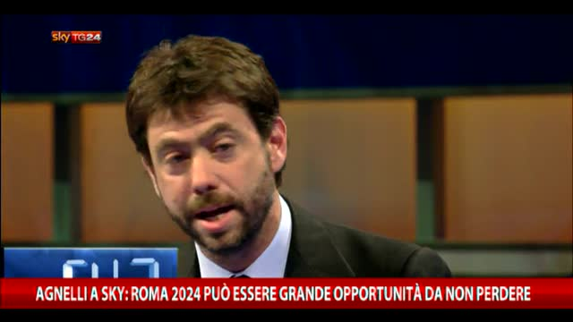 Agnelli a Sky:Roma 2024 può esser opportunità da non perdere