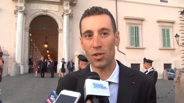 """Nibali: """"Ho donato la maglia rosa a Mattarella"""""""