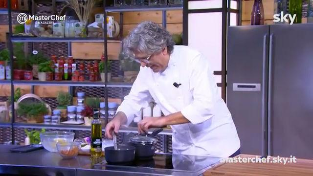 Masterchef 8, Locatelli: branzino in crosta. RICETTA