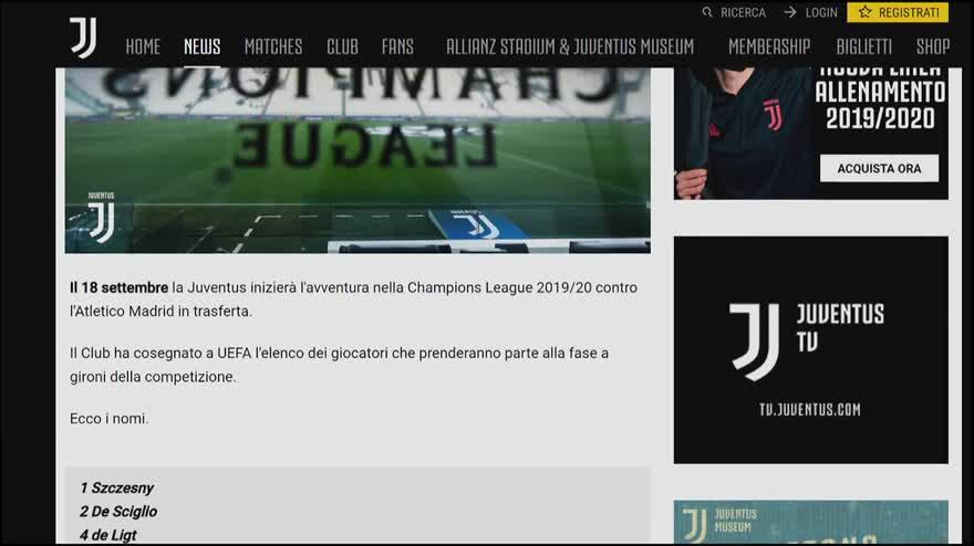 Calendario Champions Juve 2020.Juventus Lista Champions Esclusi Mandzukic Ed Emre Can