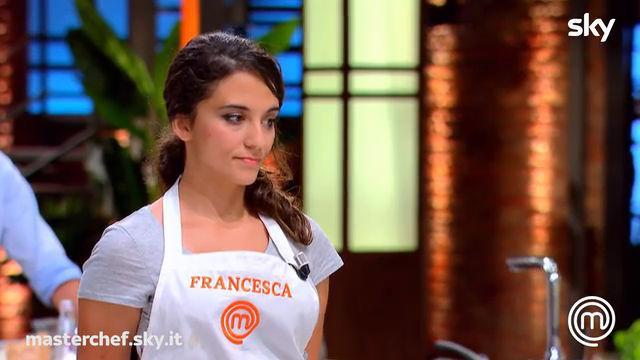 Francesca è in difficoltà per il piatto assegnato da Luciano