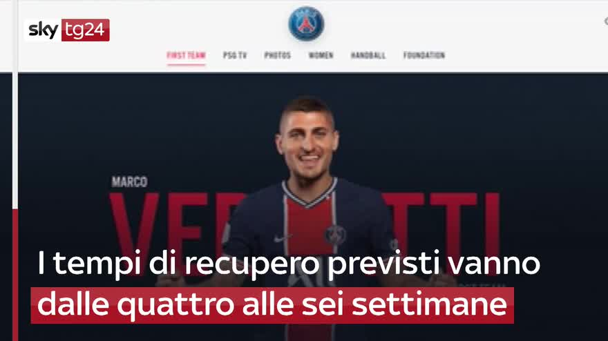 Infortunio per Verratti, Europeo a rischio