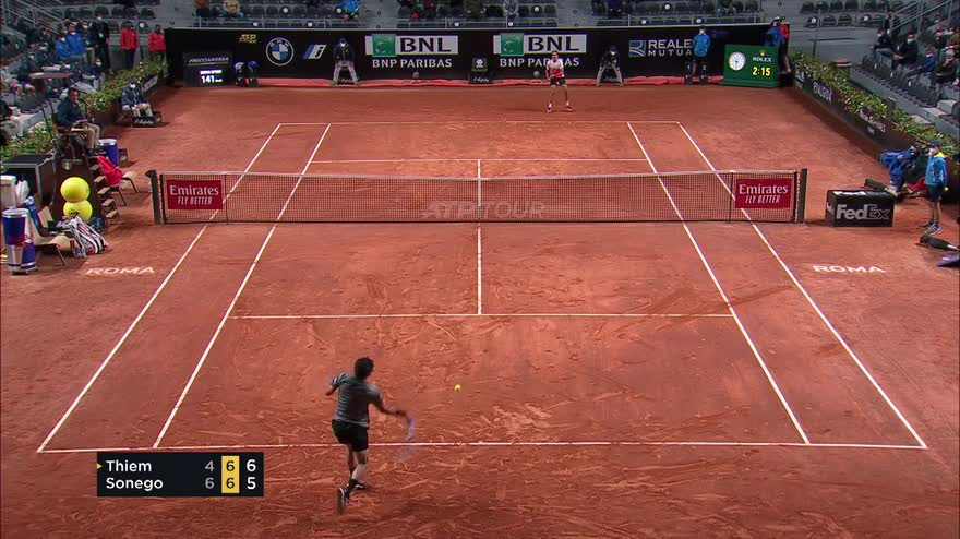Internazionali, Sonego batte Thiem in 3 set: gli highlights