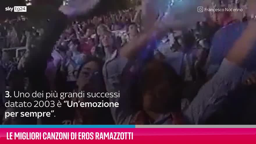 VIDEO Eros Ramazzotti, le migliori canzoni
