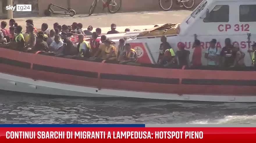 Sbarchi migranti Lampedusa, hotspot pieno