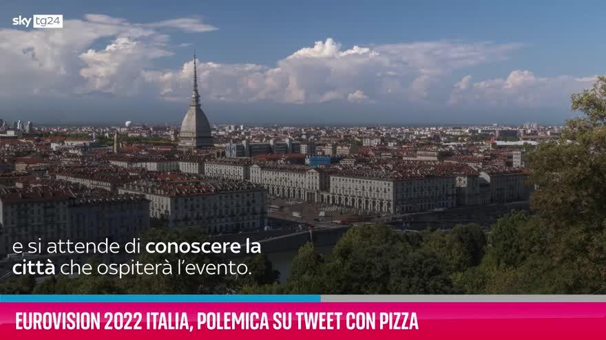 VIDEO Eurovision 2022 Italia, polemica su tweet con pizza
