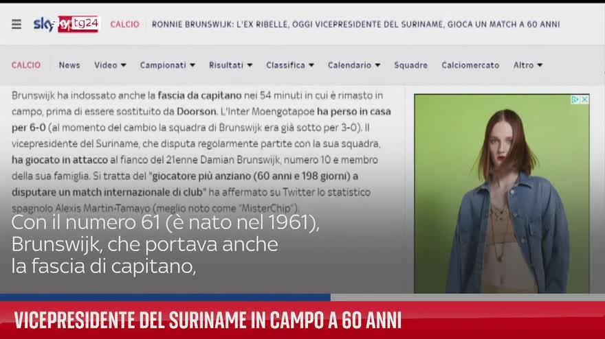 Vicepresidente del Suriname in campo a 60 anni. VIDEO