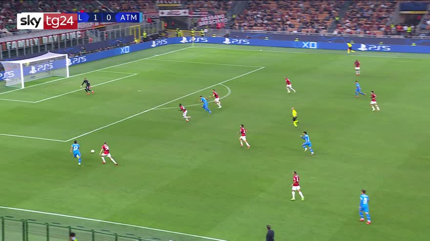 Champions, Milan-Atletico Madrid 1-2: video, gol, highlights