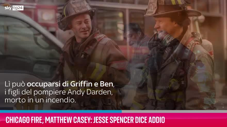 VIDEO Chicago Fire, Matthew Casey: Jesse Spencer dice addio