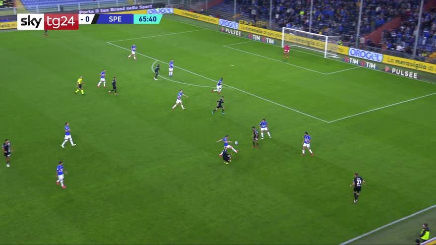 Serie A, Sampdoria-Spezia 2-1: gol e highlights
