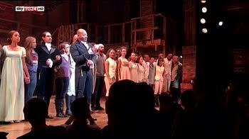 Il neo vice presidente Usa contestato a Broadway