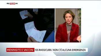meningite Lorenzin a Sky TG24 nessuna carenza vaccini