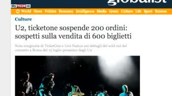 U2 soldout a Roma, stop a biglietti sospetti