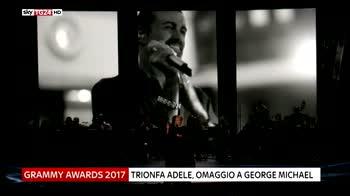 Grammy Awards, trionfa Adele, omaggio a George Michael