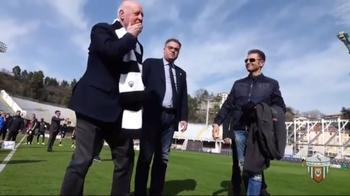 80 anni di Mazzone, il fantastico omaggio della sua Ascoli