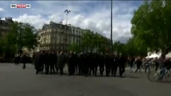 1 maggio, scontri manifestazione anarchici Parigi