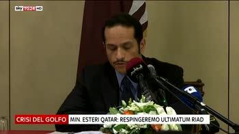Golfo, il Qatar rifiuta la lista di richieste