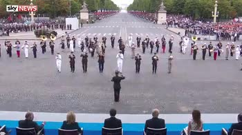 French military band plays Daft Punk medley