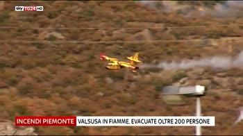 Incendi Piemonte, 200 evacuati