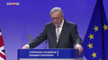Brexit, Juncker, non è un fallimento dei negoziati