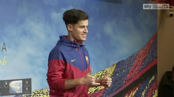 Coutinho shown off by Barca
