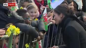 Meghan 'sparkles' on visit to Wales
