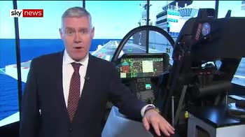 Taking the controls of an F-35 fighter