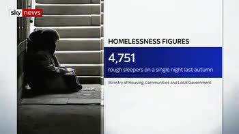 Record number of people sleeping rough