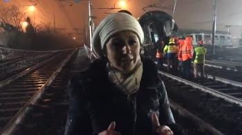 Treno deragliato a Pioltello, Fb live di Sky TG 24