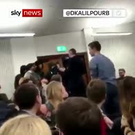 Rees-Mogg in scuffle at university