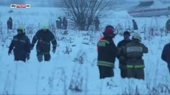 Russia, tutti morti i passeggeri del volo caduto