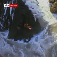 Dramatic sea rescue off Devon coast