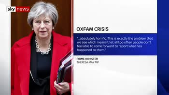 PM hits out at 'horrific' behaviour of Oxfam