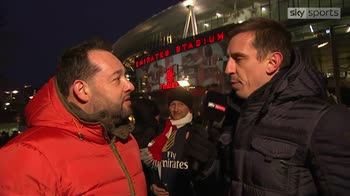 Arsenal fan surprises Neville
