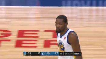 NBA, 2 dei 19 punti nel primo tempo di Kevin Durant